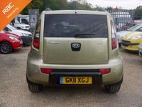 USED 2011 11 KIA SOUL 1.6 CRDI Searcher 5 Door Hatchback In Green With Brown / Cream Leather
