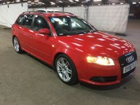 USED 2008 08 AUDI A4 2.0 TDI QUATTRO S LINE SPECIAL EDITION 5d 170 BHP 2 PREVIOUS KEEPERS +  NAVIGATION SYSTEM *   FULL LEATHER TRIM * PARKING AID *  EXECUTIVE PACK *