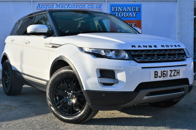 2011 61 LAND ROVER RANGE ROVER EVOQUE 2.2 SD4 4x4 AUTO Stunning in White with Panoramic Glass Roof Black Roof Black Alloys