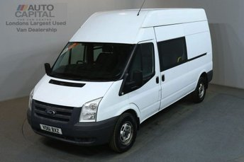 2011 FORD TRANSIT 2.4 350 115 BHP LWB H/ROOF 9 SEATER COMBI CREW VAN £5990.00