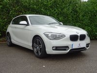 USED 2014 14 BMW 1 SERIES 1.6 116I SPORT 3d AUTO 135 BHP Full Main Dealer Service History, Finished In Pearl Metallic Paintwork, Air Conditioning, Tinted Glass, Graphite Grey Alloy Wheels, Zenon Day Run Lights, Auto Lights, Front + Rear Fog Lights, Drive Away In Under 1 Hour