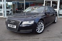USED 2011 11 AUDI A8 3.0 TDI QUATTRO SE EXECUTIVE 4d AUTO 250 BHP FINANCE TODAY WITH NO DEPOSIT