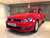 USED 2015 65 VOLKSWAGEN GOLF 1.6 MATCH TDI BLUEMOTION TECHNOLOGY 5d 109 BHP £20 ROAD TAX + DAB RADIO + PARKING SENSORS + BLUETOOTH + ADAPTIVE CRUISE CONTROL