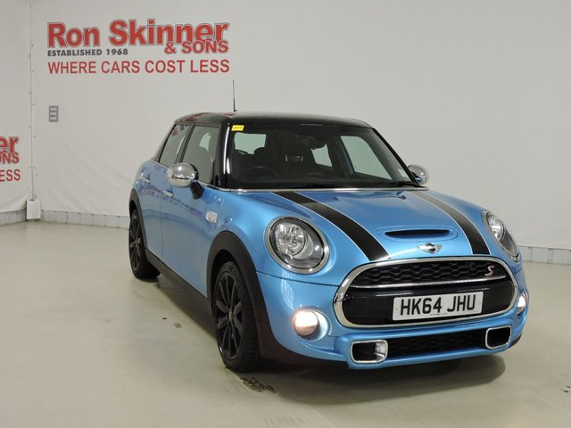 View our 2015 64 MINI HATCH COOPER 2.0 COOPER SD 5d 168 BHP with CHILI Pack + Media Pack XL + Leather + Heated Seats + JCW Spoiler