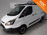 USED 2015 64 FORD TRANSIT CUSTOM 2.2 290 LR P/V 1d 124 BHP GREAT VAN  WITH ONE OWNER AND FULL DEALER HISTORY FINISHED IN BRIGHT WHITE,WITH IMMACULATE BODY WORK AND UNMARKED INTERIOR,  ELEC WINDOWS, REMOTE CENTRAL LOCKING, RADIO CD USB POINT, HIGH QUALTY ROOF RACK , FRONT AND REAR PARKING SENSORS, CARGO LINED, BULK HEAD,  JUST SERVICED READY FOR WORK.