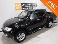 USED 2013 63 MITSUBISHI L200 2.5 DI-D 4X4 BARBARIAN LB DCB 1d 175 BHP GREAT 4 WHEEL DRIVE IN AMAZING CONDITION, GLEAMING BLACK PAINT WORK, ONE OWNER, FULL SERVICE HISTORY, FULL HEATED LEATHER,SAT NAV, SIDE STEPS, LOAD COVER, DAB RADIO CD, ELEC WINDOWS ALL ROUND , ELEC WINDOWS BEEN VERY WELL LOOKED AFTER BY PREVIOUS OWNER FULLY SERVICED READY TO GO Aintree Garages are Pleased to Present a Wide