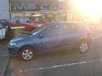 USED 2014 64 DACIA SANDERO 0.9 LAUREATE TCE 5d 90 BHP 2 OWNERS, F.S.H, £30 A YEAR ROAD TAX