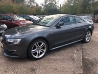 USED 2015 15 AUDI A5 2.0 TDI S LINE 2DR COUPE 190 BHP Full Audi dealer service history, S Line Nappa Heated leather.