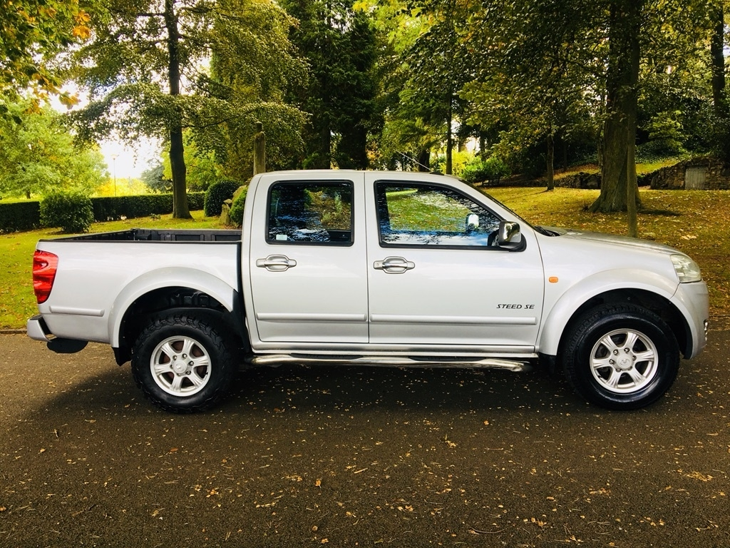 View our 2012 62 GREAT WALL STEED 2.0 TD SE Pickup 4dr Diesel Manual 4X4 (220 g/km, 141 bhp)