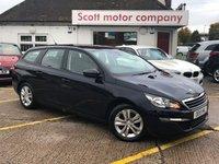 2015 PEUGEOT 308 1.6 Blue HDi S/S SW Active 5 door Diesel Estate 120 BHP £6899.00