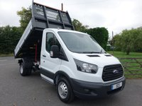 USED 2018 68 FORD TRANSIT 350 L2 MWB DRW ONE STOP TIPPER 2.0 TDCI 130PS Popular Double Rear Wheel Model In Stock Now Ready For Collection Or Delivery!