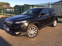 2015 JEEP CHEROKEE 2.0 M-JET LIMITED 5d 138 BHP SAT NAV PAN ROOF LEATHER FSH £13990.00