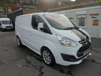 2016 FORD TRANSIT CUSTOM  TOP OF THE RANGE  SPORT 155 TURBO DIESEL 290 MODEL  SAT NAVIGATION  AIR CON CRUISE CONTROL HEATED LEATHER SEATS   !! LOW MILES  9,000  !!   £15995.00