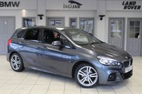 USED 2015 65 BMW 2 SERIES ACTIVE TOURER 2.0 220D XDRIVE M SPORT ACTIVE TOURER 5DR AUTOMATIC 188 BHP - full bmw service history  MINERAL GREY WITH FULL BLACK LEATHER SEATS + F BMW S H + SAT NAV + REVERSE CAMERA + HEATED FRONT SEATS + DAB RADIO + BLUETOTH + CRUISE CONTROL + AIR CON + 18 ALLOYS +