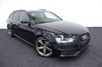 2013 AUDI A4 2.0 AVANT TDI S LINE BLACK EDITION 5d AUTO 174 BHP £13500.00