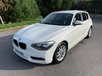 USED 2012 12 BMW 1 SERIES 2.0 120D SE 5d AUTO 181 BHP IN WHITE WITH BLACK LEATHER, CHEAP TO RUN, AUTOMATIC GEARBOX!!!!