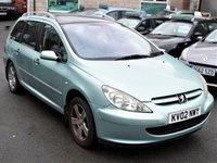 2002 PEUGEOT 307 1.6 SW SE 5d 108 BHP £950.00