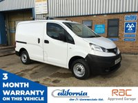 USED 2013 63 NISSAN NV200 1.5 SE DCI 1d 89 BHP 1 x OWNER, FULL SERVICE HISTORY, IMMACULATE CONDITION, READY TO GO