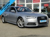 USED 2015 15 AUDI A6 3.0 AVANT TDI QUATTRO S LINE 5d AUTO 268 BHP STUNNING, 1 Owner, AUDI A6 3.0 AVANT TDI, S/LINE, QUATTRO AUTO, ESTATE. Finished in Metallic FLORET SILVER with contrasting LEATHER/ ALCANTARA Trim. Features include SAT NAV, DAB, HEATED LEATHER, LED RUN LIGHTS, B/TOOTH and much more. This is an upmarket estate that makes a very comfortable, spacious, high-tech, safe (4x4) and posh addition to the family.