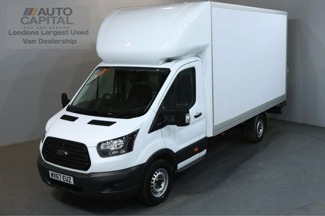 2017 67 FORD TRANSIT 2.0 350 L3 170 BHP EURO 6 LWB WITH TAIL LIFT LUTON VAN EURO 6 ENGINE