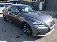 2013 LEXUS IS 2.5 300H F SPORT 4 DOOR AUTO 220 BHP IN GREY WITH WITH BLACK WHEELS WITH 105000 MILES £13499.00