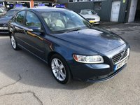 2007 VOLVO S40 1.6 SE D 4d 109 BHP IN METALLIC BLUE WITH ONLY 107000 MILES £2999.00