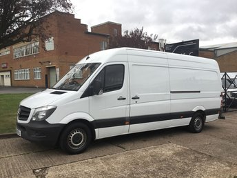 2014 MERCEDES-BENZ SPRINTER 2.1 313CDI LWB HIGH ROOF 130BHP FACELIFT. LOW 87K. 1 OWNER £10490.00