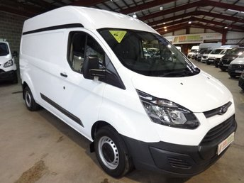 2014 FORD TRANSIT CUSTOM 2.2 330 LWB HI ROOF P/V  125 BHP - ONE OWNER-AIR CON -SERVICE HISTORY £9995.00