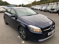 USED 2017 66 MERCEDES-BENZ A CLASS 1.6 A 160 SE EXECUTIVE 5d 102 BHP Midnight Blue with Cream Artico leather, Sat Nav, heated seats ++