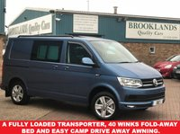 USED 2016 66 VOLKSWAGEN TRANSPORTER 2.0 T32 TDI P/V HIGHLINE BMT 5 Seats DSG AUTO 147 BHP A Fully Loaded Transporter, 40 winks Fold-Away Bed and Easy Camp Drive Away Awning.