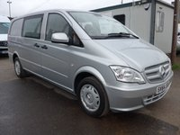 2014 MERCEDES-BENZ VITO 113 CDI 6 SEATER DUALINER, 113 BHP [EURO 5], AIR CONDITIONING £11995.00