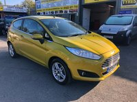 2013 FORD FIESTA 1.0 ZETEC 3d 79 BHP IN METALLIC YELLOW WITH ON 73500 MILES AND F/S HISTORY £4999.00