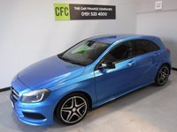 USED 2013 63 MERCEDES-BENZ A-CLASS 1.5 A180 CDI BLUEEFFICIENCY AMG SPORT 5d 109 BHP AMAZING CAR AMAZING COLOUR ONE OWNER FULL HISTORY ONLY 46,000 MILES IN GLEAMING ELECTRIC BLUE, HALF LEATHER, ELEC WINDOWS, AND MUCH MUCH MORE