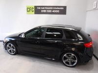 USED 2010 10 AUDI A3 2.0 S3 TFSI QUATTRO 5d 261 BHP WHAT A CAR, NO EXPENSE SPARED FULL AUDI HISTORY UP TO 2016 THEN AUDI SPECALISTS BEEN VERY WELL LOOKED AFTER, COMES IN GLEAMING BLACK METALIC WITH BRUSHED ALLOY ROOF RAIL AND MIRROR COVERS, REAR PARKING SENSORS, WHEELS ARE EMACULATE, FULL HEATED LEATHER, SAT NAV, 6 SPEED QUICK SHIFT GEAR BOX VERY EXPENSIVE, DUAL CLIMATE CONTROL, AUX POINT, FLAT BOTTOM MULTI FUNCTION LEATHER CLAD STEERING WHEEL,