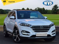 USED 2017 67 HYUNDAI TUCSON 2.0 CRDI PREMIUM SE 5d 182 BHP Big spec with RED FULL LEATHER INTERIOR, PANORAMIC GLASS ROOF, SAT NAV, PARKING SENSORS ++++. 1 lady owner with service history and an independent AA inspection report.