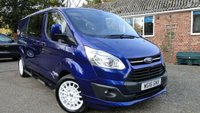 2016 FORD TRANSIT CUSTOM 290 L2H1PVSsportline Limited Edition Double-Cab-In Van 155 BHP £17995.00