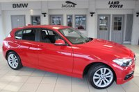 USED 2015 65 BMW 1 SERIES 1.5 116D SPORT 5DR 114 BHP - full bmw service history  KARMESIN RED WITH ANTHRASITE CLOTH SPORT SEATS + F BMW S H + BUSINESS NAV + DAB RADIO + BLUETOOTH + CRUISE CONTROL + AIR CON + 18 ALLOYS +
