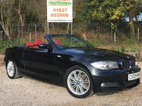 USED 2009 09 BMW 1 SERIES 2.0 118I M SPORT 2dr Red Leather, PDC