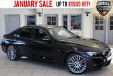 USED 2015 65 BMW 3 SERIES 3.0 340I M SPORT 4d AUTO 322 BHP - full bmw service history  FULL BLACK LEATHER SEATS + FULL BMW SERVICE HISTORY + PRO SATELLITE NAVIGATION + 18 INCH ALLOYS + HEATED FRONT SEATS + CRUISE CONTROL + BLUETOOTH + PARKING SENSORS + DAB RADIO