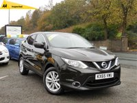 USED 2015 65 NISSAN QASHQAI 1.5 DCI ACENTA PREMIUM 5d 108 BHP STUNNING CAR, PAN ROOF, FRONT/REAR PARKING SENSORS, REAR CAMERA, SAT NAV, CRUISE, BLUETOOTH, AUTO LIGHTS AND WIPERS!