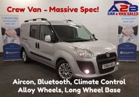 USED 2014 64 FIAT DOBLO 2.0 JTD 135 BHP MAXI 5 SEAT CREW VAN in Silver with Air Con, Bluetooth, Climate Control, Alloy Wheels and much more.... **Drive Away Today** Over The Phone Low Rate Finance Available, Just Call us on 01709 866668