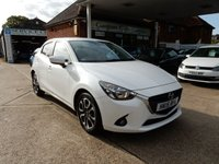 USED 2015 15 MAZDA 2 1.5 SPORTS LAUNCH EDITION 5d 89 BHP FULL MAZDA HISTORY,TWO KEYS,AIR CON,USB,SAT NAV,CRUISE,BLUETOOTH