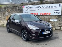 USED 2014 64 CITROEN DS3 1.6 E-HDI DSTYLE PLUS 3d 90 BHP NIL COST ROAD TAX+CRUISE CONTROL+FINANCE AVAILABLE