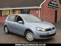 USED 2009 59 VOLKSWAGEN GOLF 1.6 TDI S (ONE OWNER / £30 TAX) 5dr ONE LADY OWNER / FULL VW MAIN DEALER SERVICE HISTORY