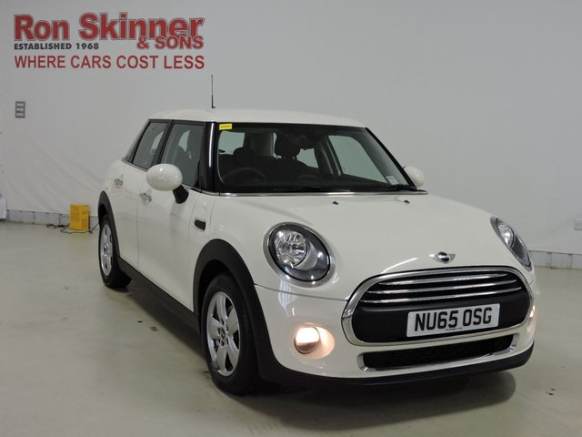 View our 2015 65 MINI HATCH ONE 1.2 ONE 5d 101 BHP with Pepper Pack + Leather Sport Steering Wheel