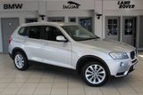 USED 2014 63 BMW X3 2.0 XDRIVE20D SE 5d 181 BHP - full service history  TITAN SILVER WITH FULL NEVADA BLACK LEATHER SEATS + FULL SERVICE HISTORY + DAB + BLUETOOTH + CRUISE CONTROL + 19 ALLOYS +