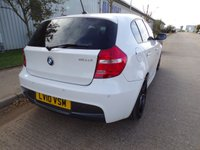 USED 2010 10 BMW 1 SERIES 2.0 116D M SPORT 5d 114 BHP WHITE FULL LEATHER PART EXCHANGE AVAILABLE / ALL CARDS / FINANCE AVAILABLE