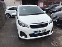 USED 2014 64 PEUGEOT 108 1.0 ACTIVE 5d 68 BHP The best value 5 door 108 on the net today, only 22000 miles, white, free road tax, superb
