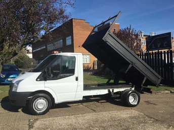 2014 FORD TRANSIT 2.2TDCI T350 TIPPER SINGLE CAB. LOW 73K FSH. 1 OWNER £10490.00