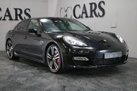 USED 2011 11 PORSCHE PANAMERA 4.8 TURBO PDK 5d 500 BHP Basalt Black Metallic / Black Full Leather Heated Electric Memory Seats + Porsche Crest Embossed Headrests, PASM - Adjustable Air Suspension, Switchable Sports Exhaust, PCM - Satellite Navigation + Bluetooth Connectivity + BOSE Premium Sound, 20 Inch Turbo II Alloy Wheels + Crested Porsche Centres, Heated Leather Multi Function Steering Wheel, Sport Chrono Package, Front and Rear Park Distance Control, Automatic Bi-Xenon Headlights + Power Wash, Keyless Entry and Drive